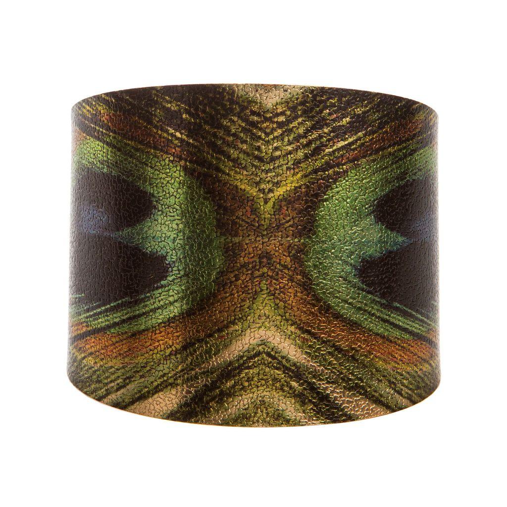 Peacock Cuff Bracelet