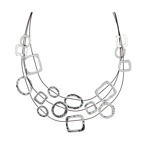 Rain Multi Shape Illusion Necklace