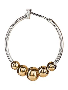 Rain Gold Ball Hoop Earrings