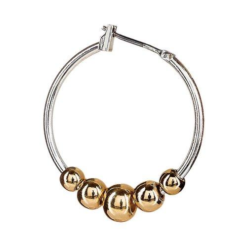 Rain Gold Ball Hoop Earrings