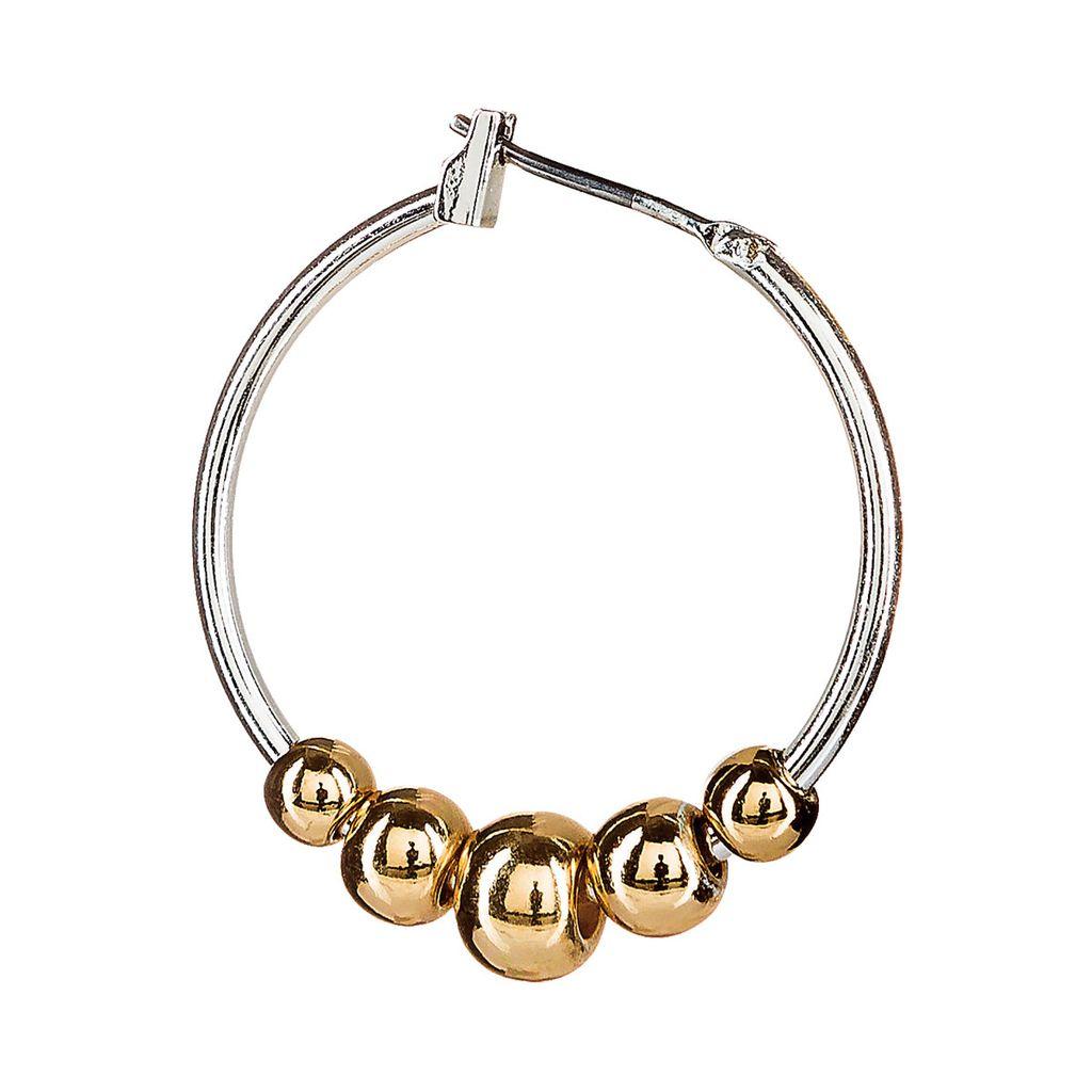 Gold Ball Hoop Earrings