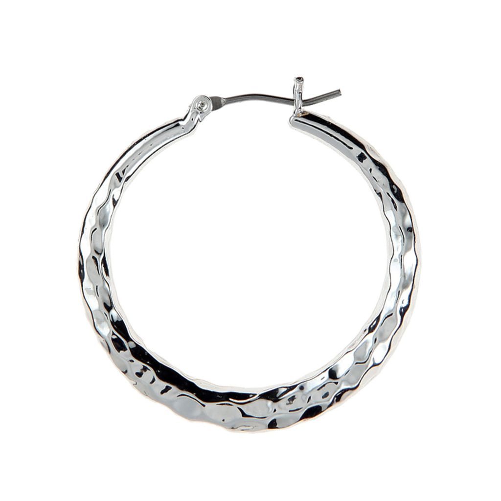 Rain Hammered Hoop Earrings