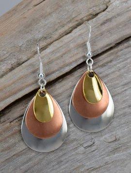 Eye Catching Jewelry Triple Metal Earrings