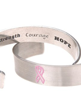 Whitney Howard Pink Ribbon Cuff Bracelet