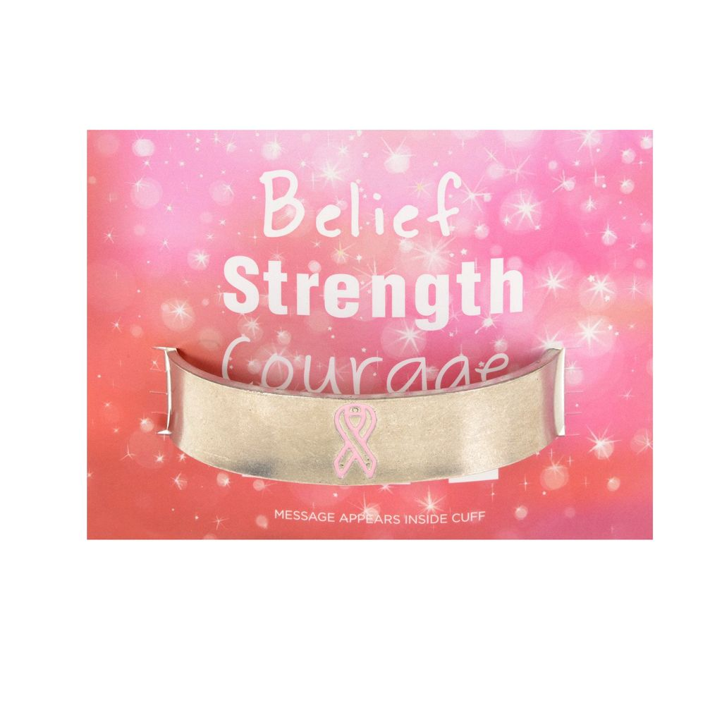 Pink Ribbon Cuff Bracelet