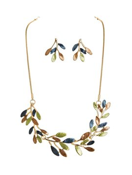 Rain Frosted Branches Necklace and Earrings
