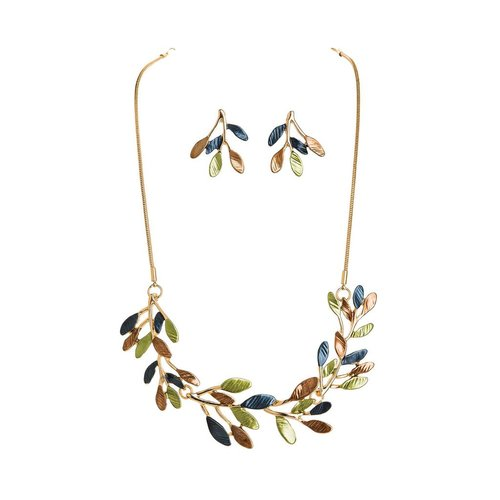 Frosted Branches Necklace and Earrings