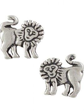 Lion Post Earrings