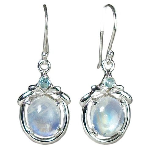 moonstone moon topaz onlinestore sterling silver blue stone and earrings