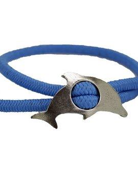 Dolphin Adjustable Stretch Bracelet Lt Blue