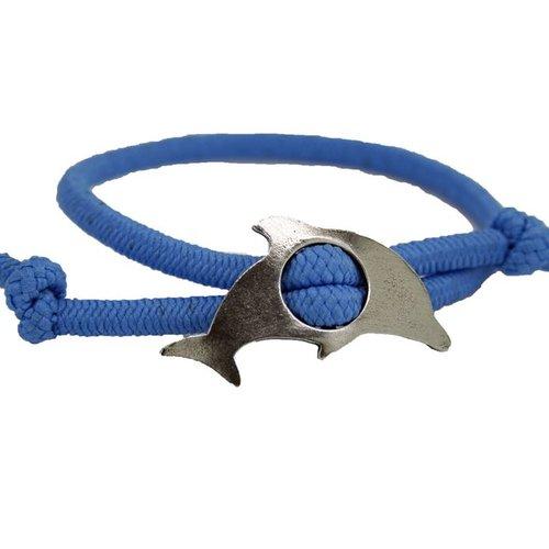 Whitney Howard Dolphin Adjustable Stretch Bracelet Lt Blue