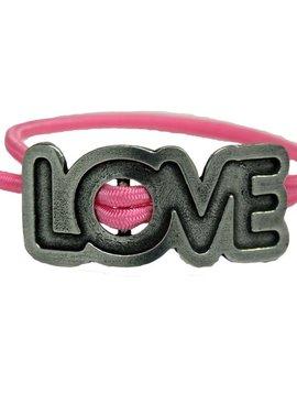 Love Adjustable Stretch Bracelet Pink