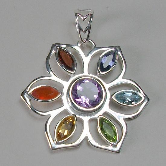 Esprit Creations Flower Power Chakra Pendant