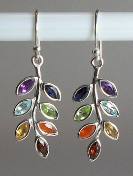 Esprit Creations Chakra Leaf Earrings
