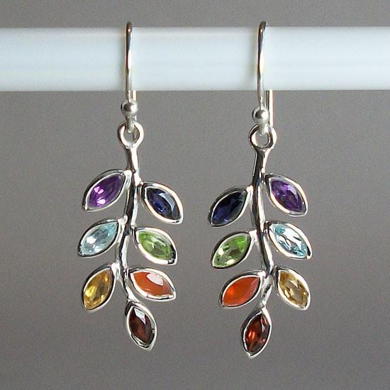 Chakra Leaf Earrings