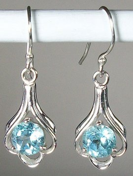 Lovely Sky Blue Topaz Earrings
