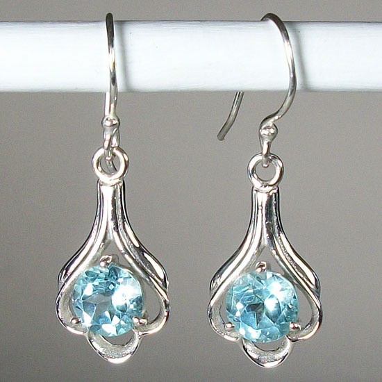Esprit Creations Lovely Sky Blue Topaz Earrings