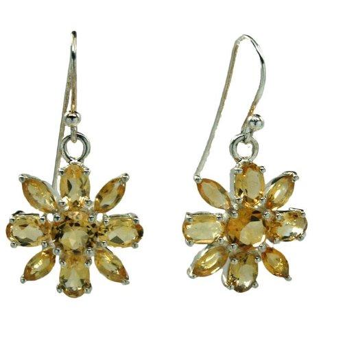 Esprit Creations Citrine Flower Earrings