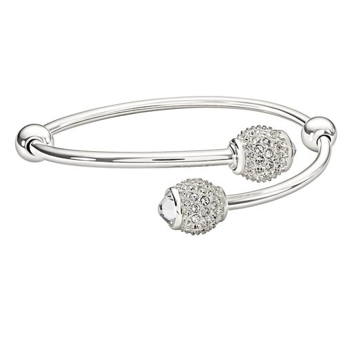 Chamilia Medium Flex Bangle with Pave Accents