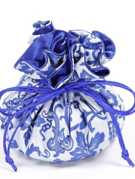 Cathayana Blue/White Brocade Jewelry Pouch