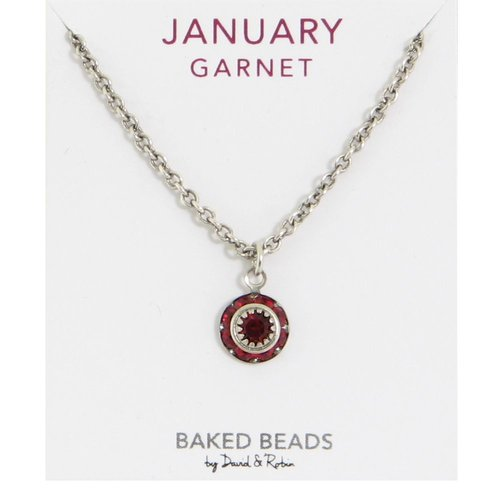 Baked Beads January Crystal Birthstone Necklace
