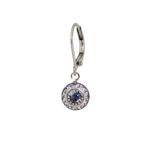 Baked Beads Delicate Crystal Earrings