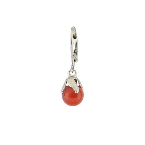 Baked Beads Stone Drop Earrings