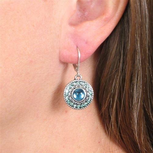 Baked Beads Bali Crystal Earrings