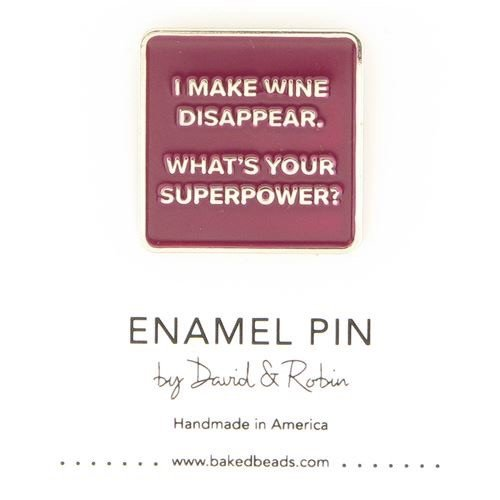 Baked Beads Disappearing Wine Enamel Pin