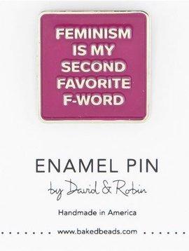 Baked Beads Feminism Enamel Pin