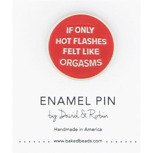 Baked Beads Hot Flashes Enamel Pin