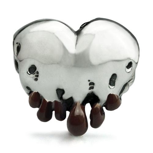 Ohm Beads Melting Heart Bead w/ Chocolate Enamel Tips LTD ED