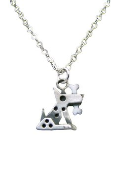 Chickenscratch Silver Fido Pendant Necklace