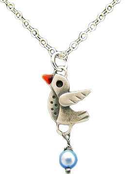 Chickenscratch Little Lovebird Pendant Necklace