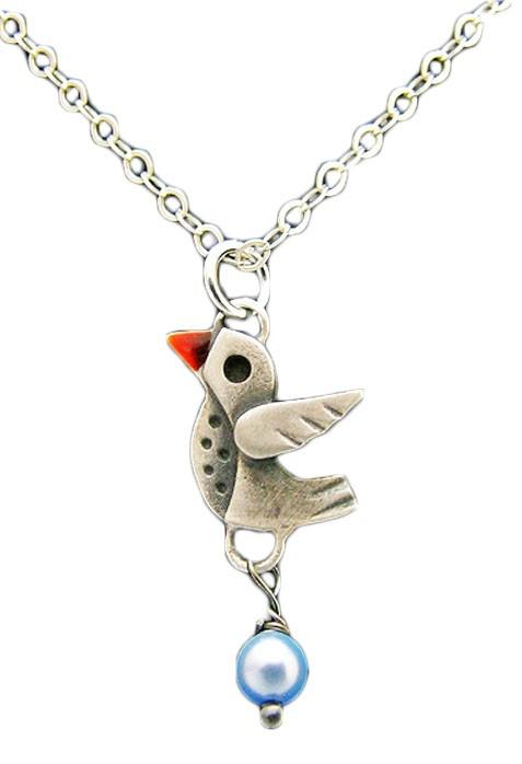 Chickenscratch Little Lovebird Pendant Necklace