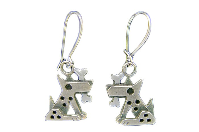 Chickenscratch Silver Fido Earrings