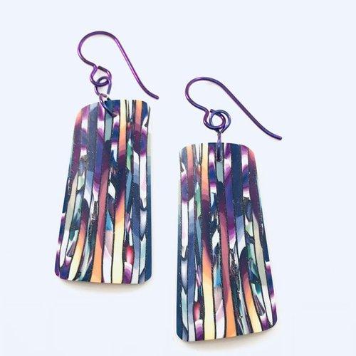 Multi Striped Veneer Earrings