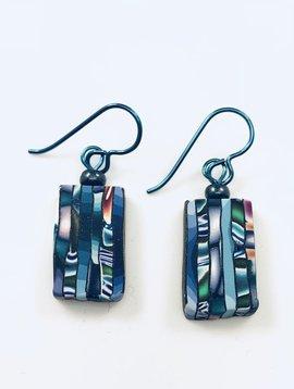 Multi Striped Slice Earrings