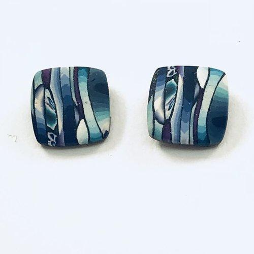Multi Striped Post Earrings