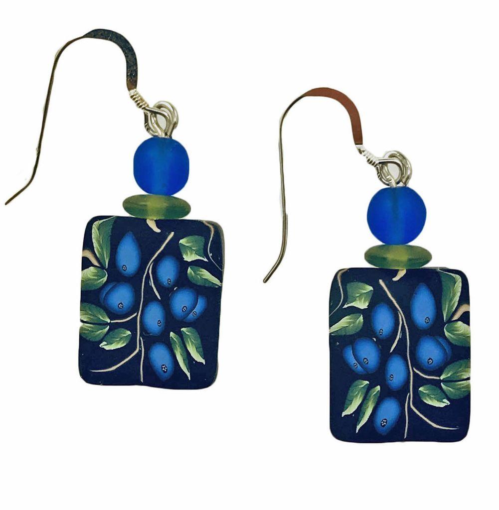 Maine Blueberry Earrings