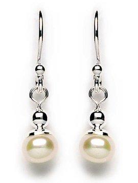 Tomas White Pearl Drop Earrings
