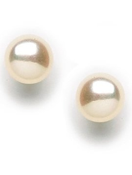 Tomas White Freshwater Pearl Post Earrings