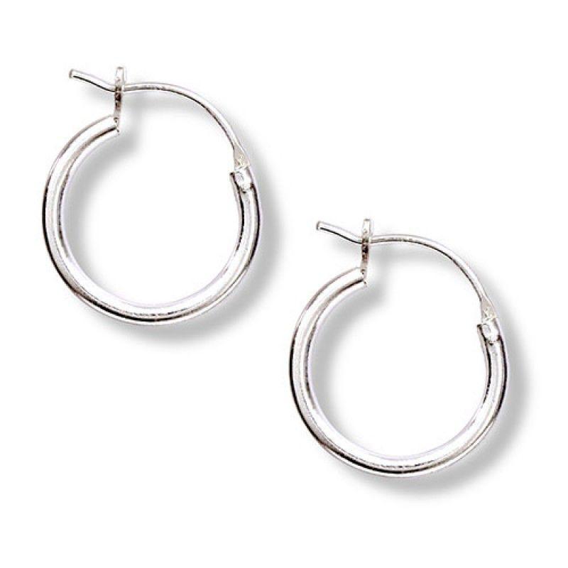Tomas Silver Tube Hoop Earrings