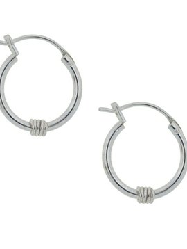 Tomas Silver Coiled Hoop Earrings