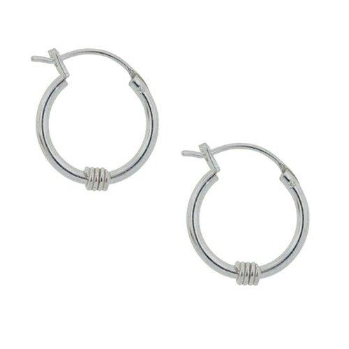 Tomas Silver Coiled Hoop Earrings