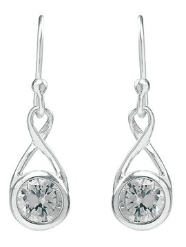Tomas Crystal Infinity Teardrop Earrings