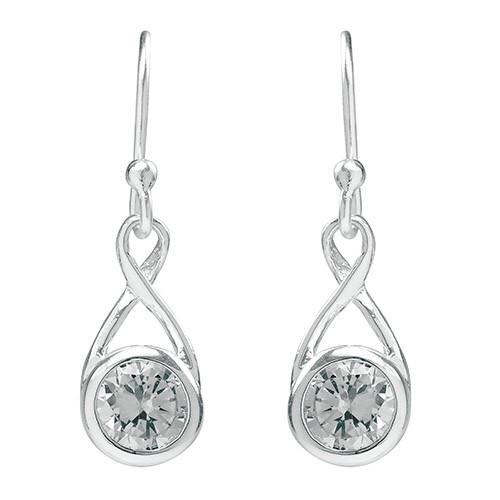 Tomas Crystal Infinity Teardrop Earrings
