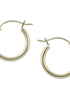 Tomas 14K Gold Plated Tube Hoop Earrings