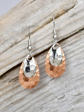 Eye Catching Jewelry Small Hammered Earrings
