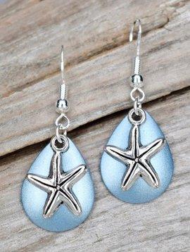 Eye Catching Jewelry Blue Starfish Earrings